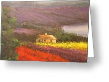 Home In The Hills Of Tuscany Greeting Card