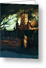 Home Of Darkness Greeting Card