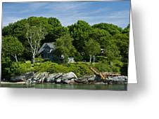 Home On Little Diamond Island Greeting Card