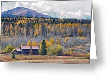 Home On The Gore Range Greeting Card