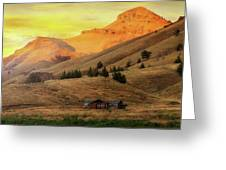 Home On The Range In Antelope Oregon Greeting Card