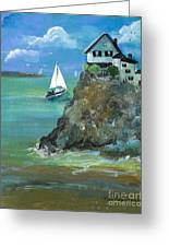 Home Overlooking The Sea Greeting Card