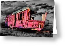 Home Pink Home Black And White Greeting Card