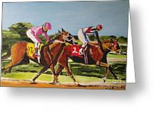 Home Stretch Greeting Card by Judy Kay