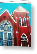 Home Town Church Greeting Card