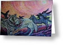 Homecoming Wolves And Ravens Greeting Card