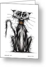 Homeless Cat Greeting Card