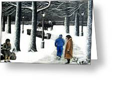 Homeless In Central Park Greeting Card