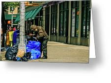 Homeless In Nyc Greeting Card