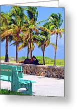 Home On The Beach Greeting Card