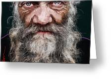 Homeless Veteran Greeting Card