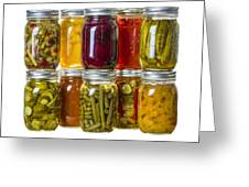 Homemade Preserves And Pickles Greeting Card