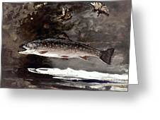 Homer: Trout, 1889 Greeting Card