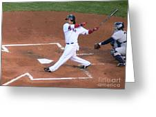 Homerun Swing Greeting Card