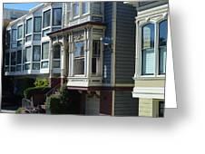 Homes Of San Francisco Greeting Card
