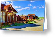Homes Of The Past Greeting Card