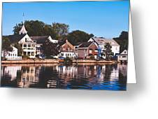 Homes On Kennebunkport Harbor Greeting Card