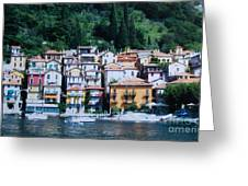 Homes Uphill In Italy Greeting Card