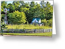 Small Farm Homestead Greeting Card