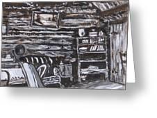 Homestead Interior Historical Vignette Greeting Card
