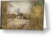 Homestead Of Old Greeting Card