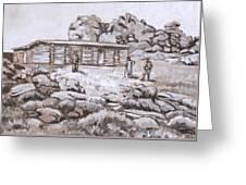 Homestead On Brush Creek Historical Vignette Greeting Card