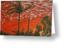 Homestead Sunset Greeting Card