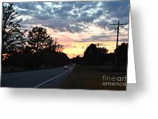 Homeward Bound Evening Sky Greeting Card