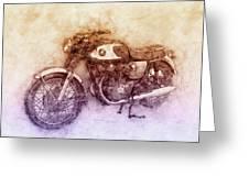 Honda Cb77 - Honda Motorcycles 2 - Motorcycle Poster - Automotive Art Greeting Card