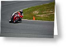 Honda Takes Turn 1 No 2 Greeting Card