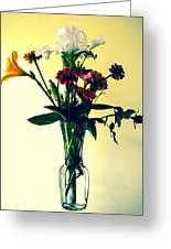 Honey Creek Flowers Greeting Card by Tom Zukauskas