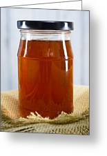 Honey In Clear Glass Jar Greeting Card