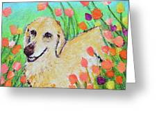 Honey In The Flower Fields Greeting Card