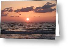 Honey Moon Island Sunset Greeting Card