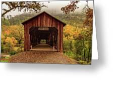 Honey Run Covered Bridge In Autumn Greeting Card