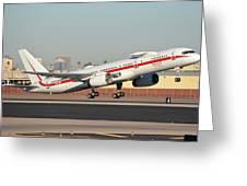 Honeywell Boeing 757-225 N757hw Phoenix Sky Harbor January 14, 2016 Greeting Card