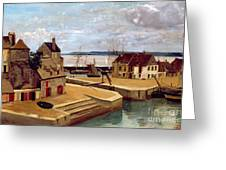 Honfleur  Houses On The Quay Greeting Card