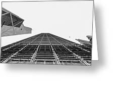 Hong Kong Building Black And White Greeting Card
