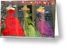 Hong Kong Dress Shop Greeting Card