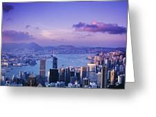 Hong Kong Harbor Greeting Card