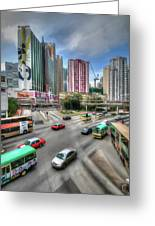 Hong Kong Traffic Greeting Card