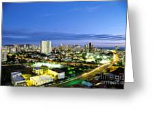 Honolulu City Lights Greeting Card