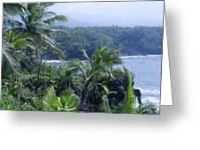 Honomaele Near Mokulehua At Hale O Piilani Heiau Hana Maui Hawaii Greeting Card
