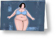 Honor My Curves Greeting Card