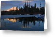 Hood Alpenglow Greeting Card