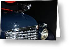 Hood Ornament-1938 Cadillac V-16 Town Sedan Greeting Card