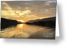 Hood River Golden Sunset Greeting Card