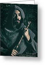 Hooded Man With Axe Greeting Card