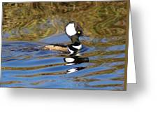Hooded Mersanger Greeting Card