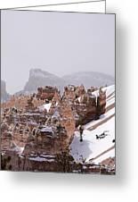 Hoodoos In Snow Greeting Card